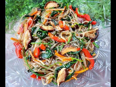 Korean JAPCHAE recipe ( Glass Noodles )