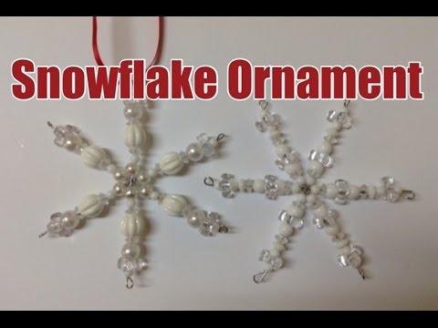 Make a Beautiful Beaded Snowflake Ornament
