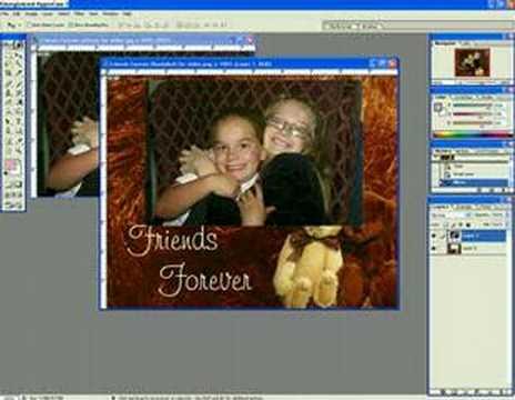 Adobe Photoshop using move tool, layers, and resizing photo