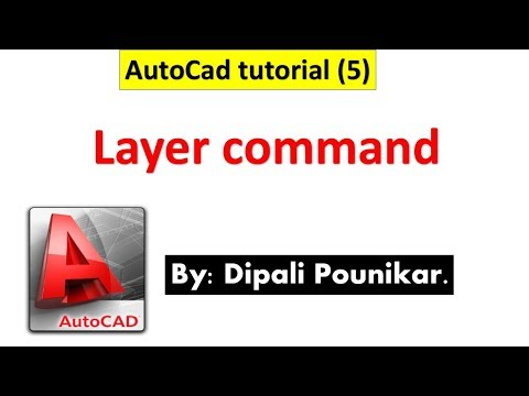 AutoCad Tutorial (5) on Layer command