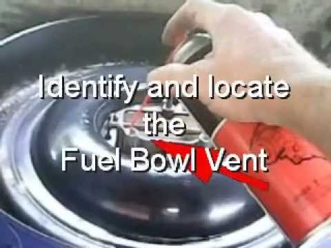 Clean a Carburetor Without Rebuilding it and Save Money