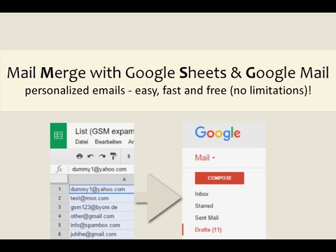 GSM - Mail Merge with Google Mail & Google Sheets