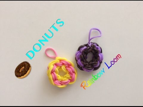 EASY Rainbow Loom Donut Charms