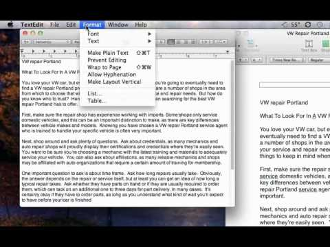Converting Mac Word files to readable PC .txt file