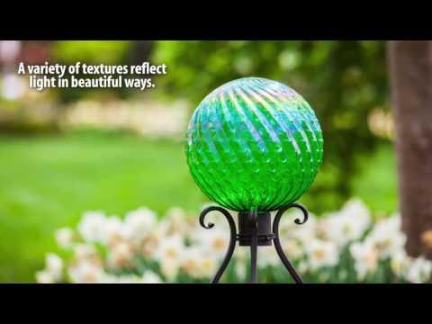 Glass & Stainless Steel Gazing Balls for Spring 2017 from Evergreen Garden