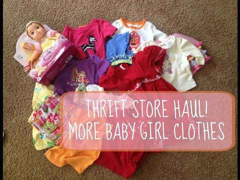 Thrift Store Haul for Baby Girl Clothes- Second Hand Baby Buys!