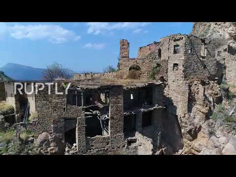 Ghost town! Drone reveals ancient abandoned village in Dagestan