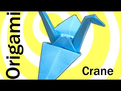 Origami Crane (Swan) instructions. (easy origami)