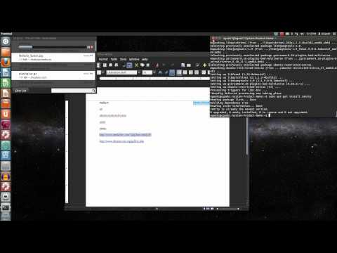 Install an animted background ubuntu 12.04