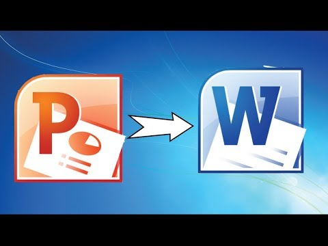 How to convert power point to Word document