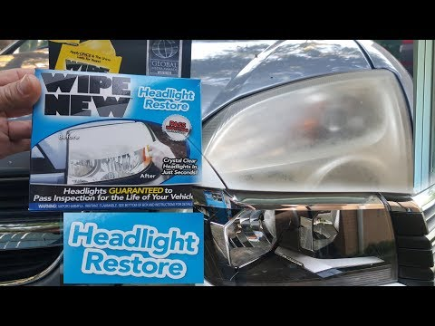 How to Restore old Car Headlights to Brand New Clear