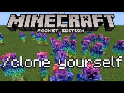 Minecraft PE - How To Clone Yourself!