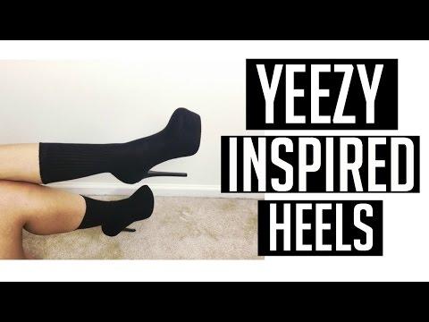 DIY Yeezy Sock Heels | Yeezy Inspired Sock Heels Tutorial