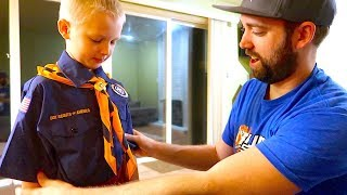 James Starts CUB SCOUTS!