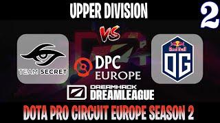 DreamLeague S15 DPC EU | Secret vs OG Game 2 | Bo3 | Upper Division | DOTA 2 LIVE