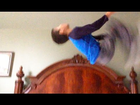 How to do a backflip on a bed or trampoline