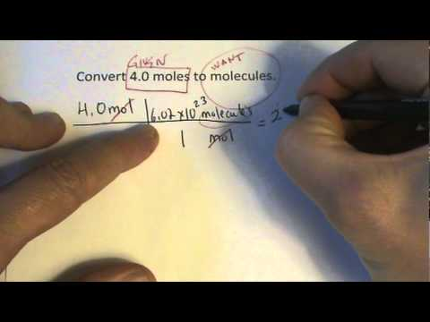 Moles to Molecules Conversion