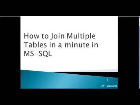 How to join multiple tables in MS SQL