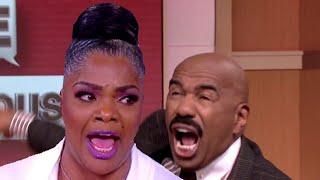 Mo'nique and Steve Harvey Get into Heated Argument  Mo'nique allegedly Threatens To Slap Steve!