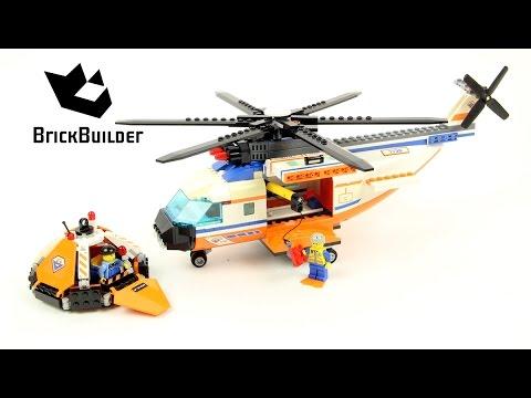Lego City 7738 Coast Guard Helicopter & Life Raft - Lego Speed Build