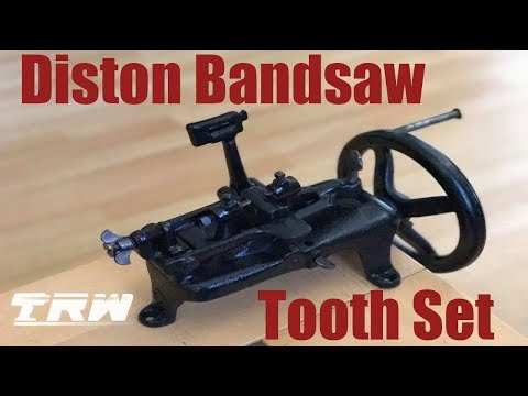 Restoring a 19th Century Diston Bandsaw Tooth Set