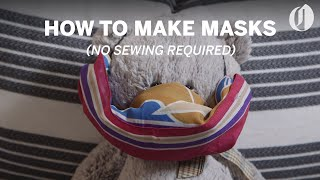 How to make a face mask (no sewing required)
