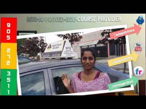 Student Testimony about Adept Drivers Education' Driving Instruction Mississauga