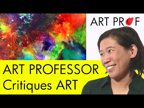 Art Critique: Abstract Mixed Media Paintings / ART PROF