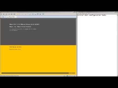 Initial Configuration steps for ESXi
