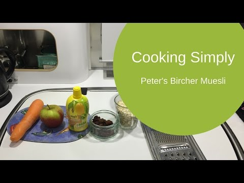 Cooking Simply - Healthy Breakfast Recipe idea:  Muesli to go