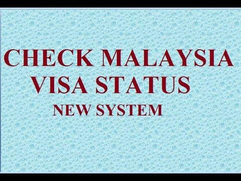 HOW TO CHECK MALAYSIA VISA STATUS (NEW SYSTEM)/MALAYSIA VISA CHECKING.