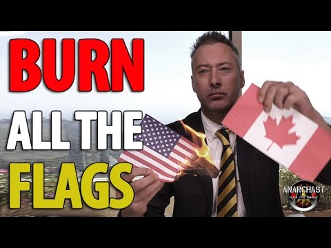 Traitor Burns the US flag on YouTube In Response To Trump Tweet