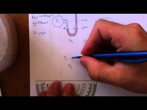 Solving a simple U-tube manometer problem