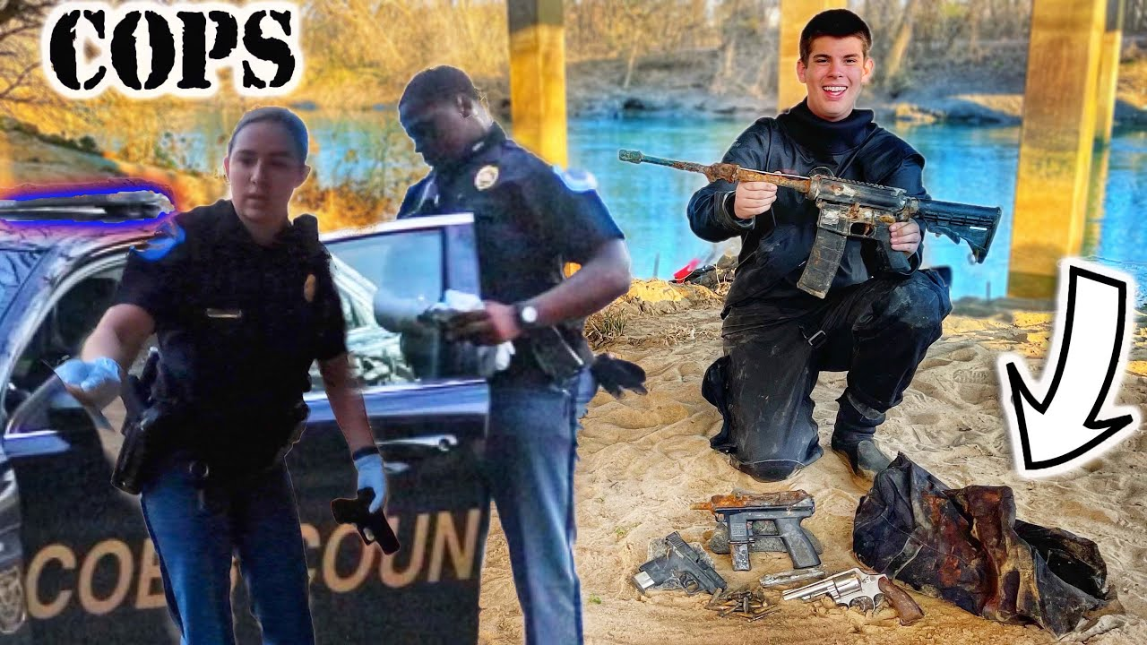 Found Loaded AR-15 & Guns In Bag While Scuba Diving! (Police Called)