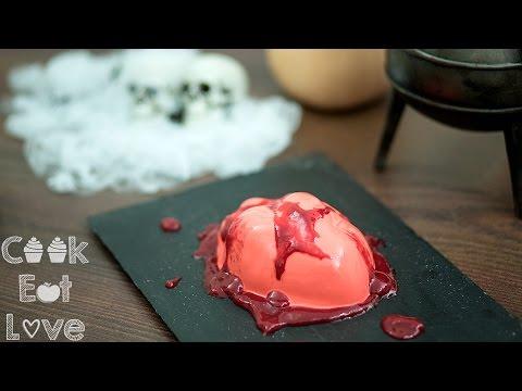 Coconut Panna Cotta with Raspberry sauce (Halloween 2016)