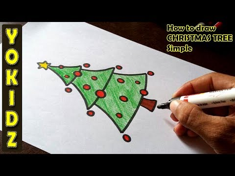 How to draw a CHRISTMAS TREE Simple