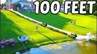 Giant Backyard Waterslide 100 Feet