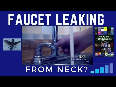 How To Fix A Faucet That Is Leaking From The Neck