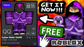 FREE ACCESSORIES! HOW TO GET Cyber Rider Shirt \u0026 Pants OUTFIT! (ROBLOX Luobu Launch Party QQ EVENT)