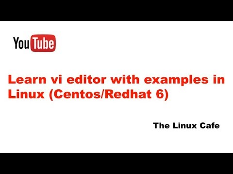 Learn vi editor with examples in Linux (Centos/Redhat 6)
