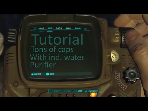 Fallout 4 Tutorial: Making Tons of Caps With Industrial Water Purifiers