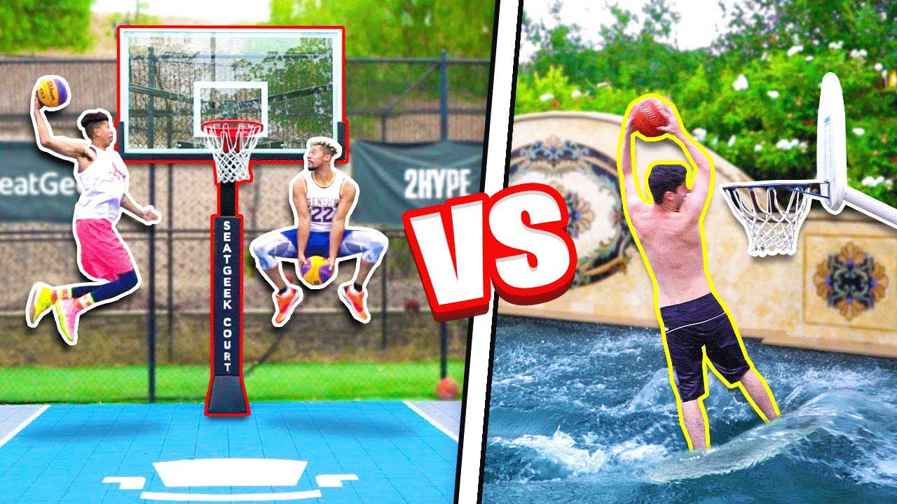INSANE 2HYPE Pool + Mini Hoop Dunk Contest!