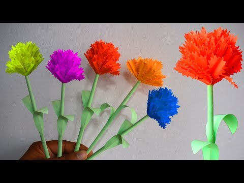 How to make handmade paper Flower (very easy) : DIY Crafts
