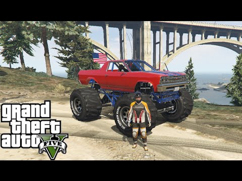 GTA 5 OFF ROAD - With BIGFOOT TRUCK MARSHALL! #3