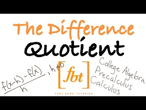 🔴 The Difference Quotient [fbt] (Difference Quotient with Fractions, Exponents and Square Roots)