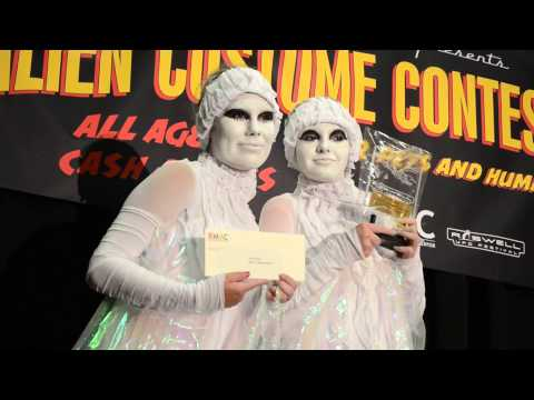 Winners of the 2013 Alien Costume Contest Roswell, NM