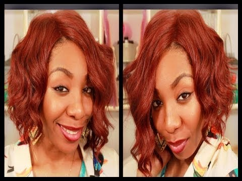 Wig Review | Short, Red & Wavy Curls : Asymmetrical Cut  (Budget Friendly)