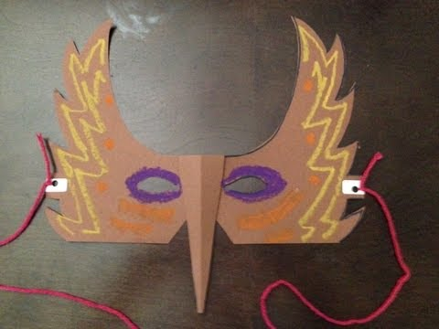 How to Make a Paper Bird Mask