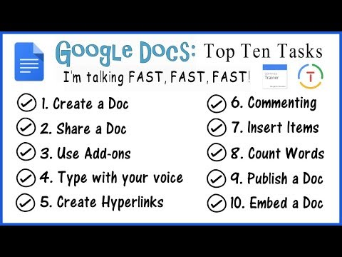 Google Docs 2018: Top 10 Tasks (Google Educator)