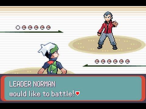 Pokémon Emerald - Leader Norman rematch #3